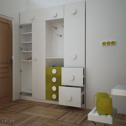 Concepts in wardrobe design storage ideas hardware for for Bedroom wardrobe shutter designs