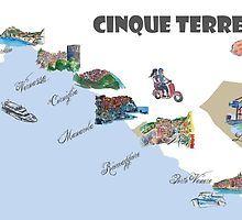 Cinque Terre Italien Sehenswurdigkeiten Karten Von Artshop77