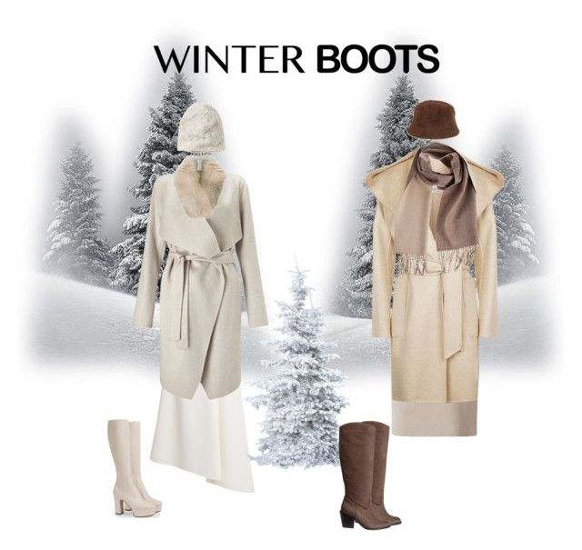 """""""Winter Boots"""" by somatchamoretea ❤ liked on Polyvore featuring Carl Kapp, Gucci, Jean-Louis Scherrer, Finesse, MaxMara, H&M, Inverni, Overland Sheepskin Co. and Madison 88"""