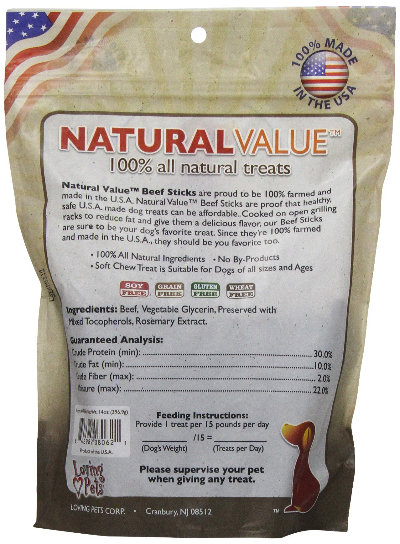 Loving Pets Natural Value All Natural Soft Chew Beef