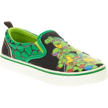 2f48e017a4 Teenage Mutant Ninja Turtles Toddler Boy's Canvas Slip-on, Size: 7, Green