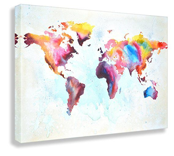 Kunstbruder Weltkarte by Paul London auf Leinwand Kunstbilder- Kunst