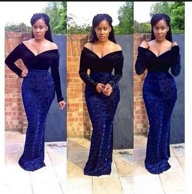 Latest Lace And Velvet Aso Ebi Styles For African Women 2018