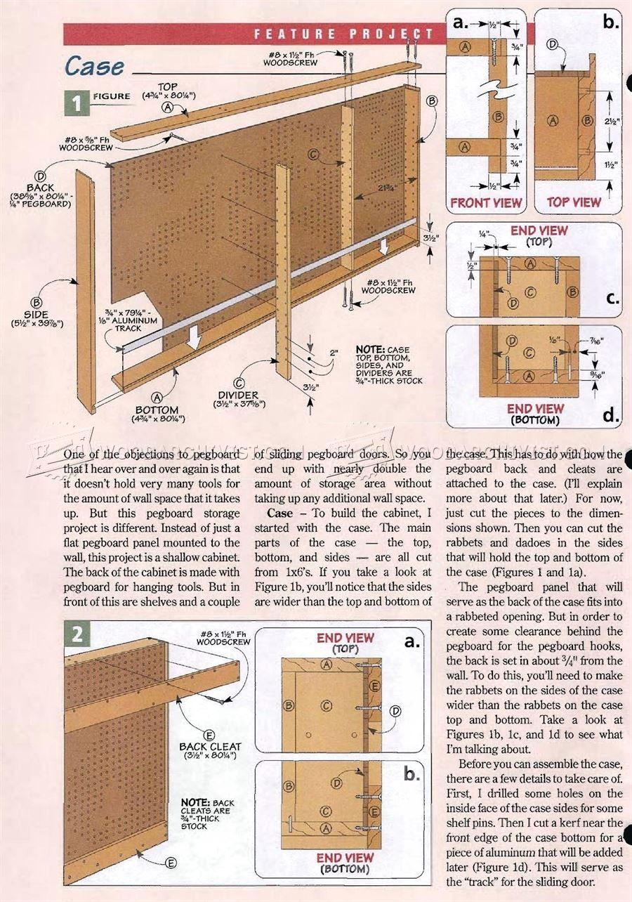 1798 Shop Pegboard Cabinet Plans Workshop Solutions Plans Tips