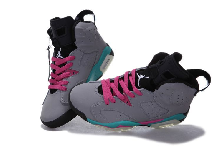 new product 82d6f 17016 ... closeout 2013 jordans for women 2013 women air jordan 6 miami vice grey  pink d2d03 cac40