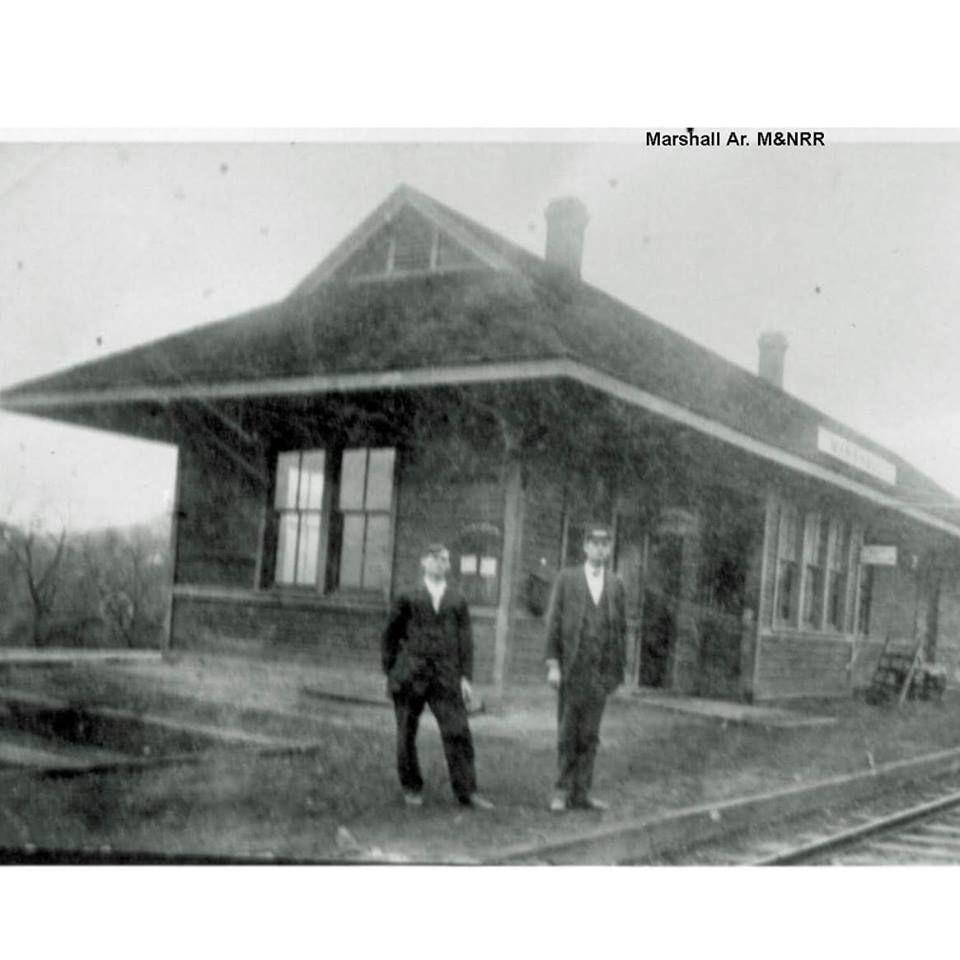 Train Depot At Marshall Arkansas