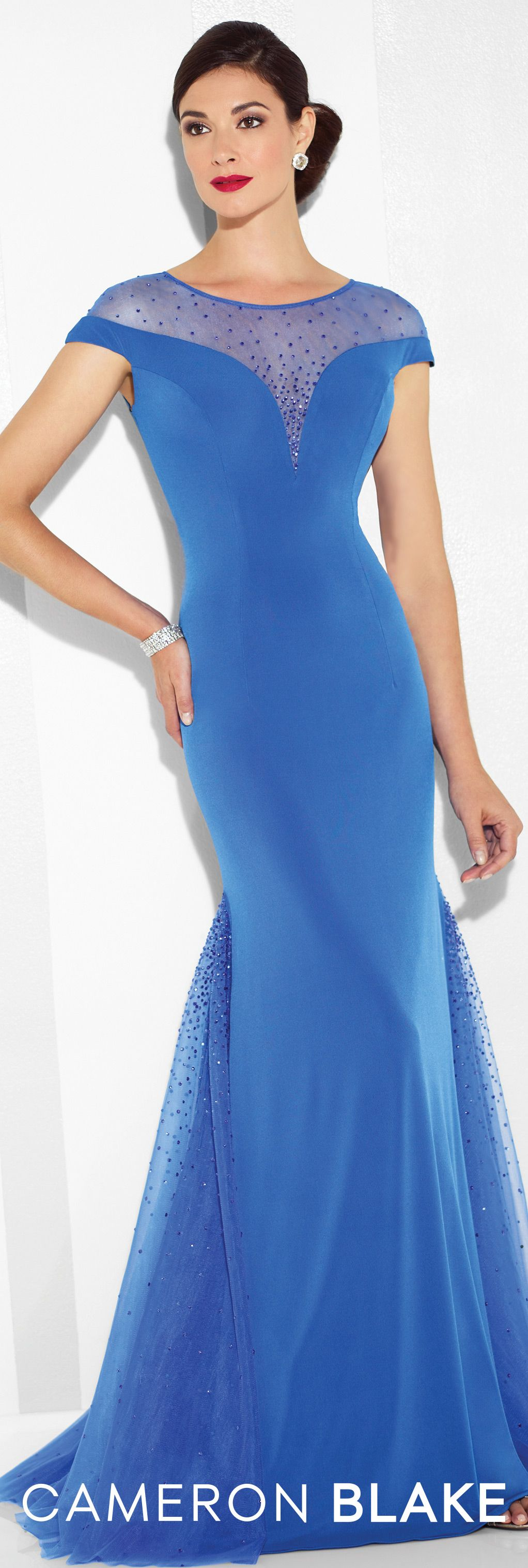 Cameron blake evening dresses trumpets illusions and