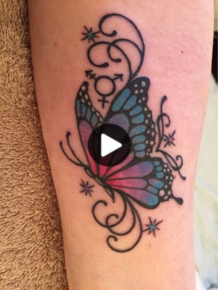 Butterfly tattoos with names #butterfly #tattoos #names | schmetterling tattoos mit namen | tatouages ​​de papillon avec des noms | tatuajes de mariposas con no… in 2020