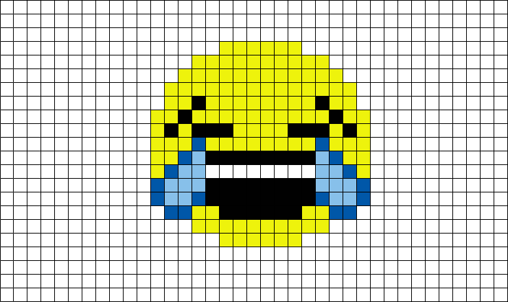 Emoji Pixel Art Facile Smiley