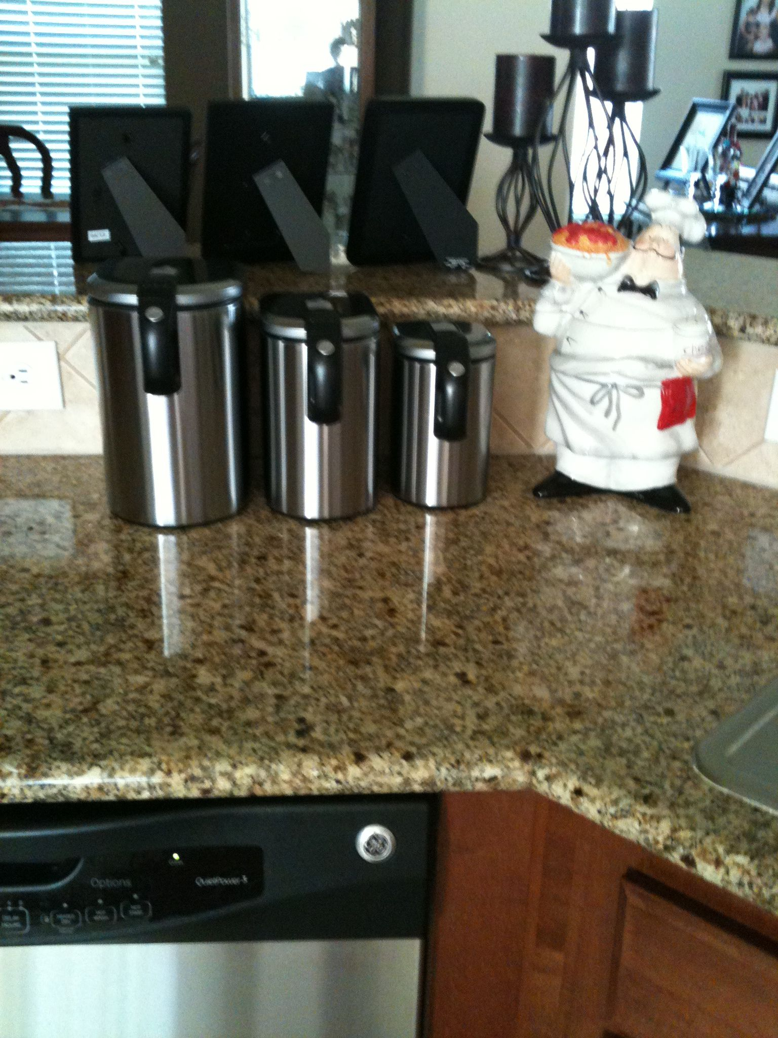 Slim Brushed Stainless Steel Canister Set Stainless Steel Canister