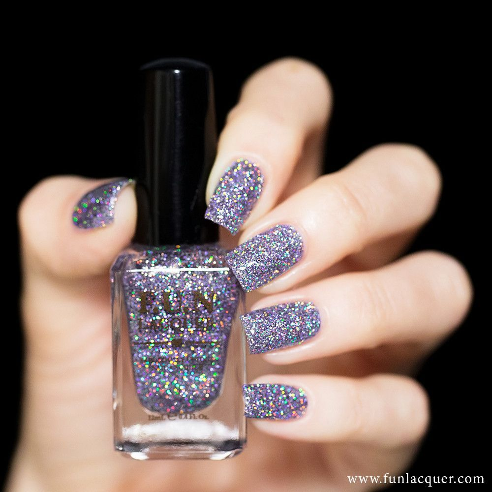 This is a gorgeous lilac purple nail polish with glitter that will ...
