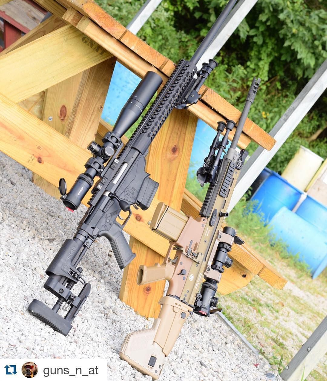 """""""Heavy Hitters. Ruger Precision Rifle + SCAR 17. PC: @Guns"""