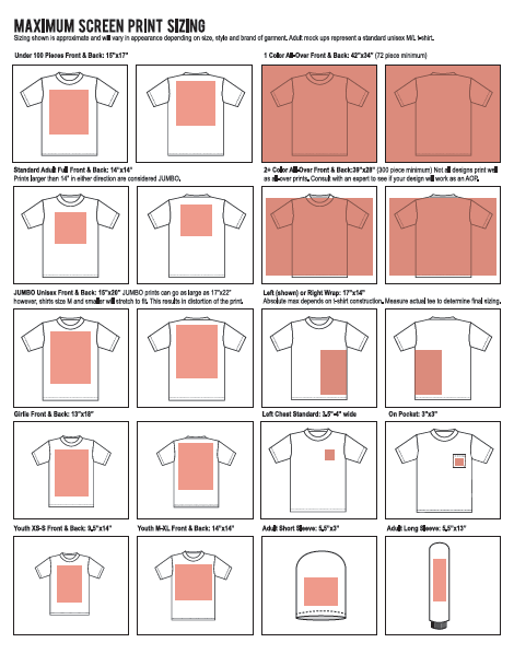 T Shirt Doc Dimensions Every Size Scale