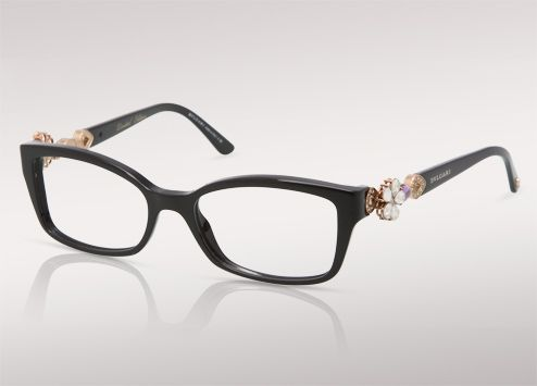 BVLGARI mediterranean flower acetate ophtalmics with black frame and ...