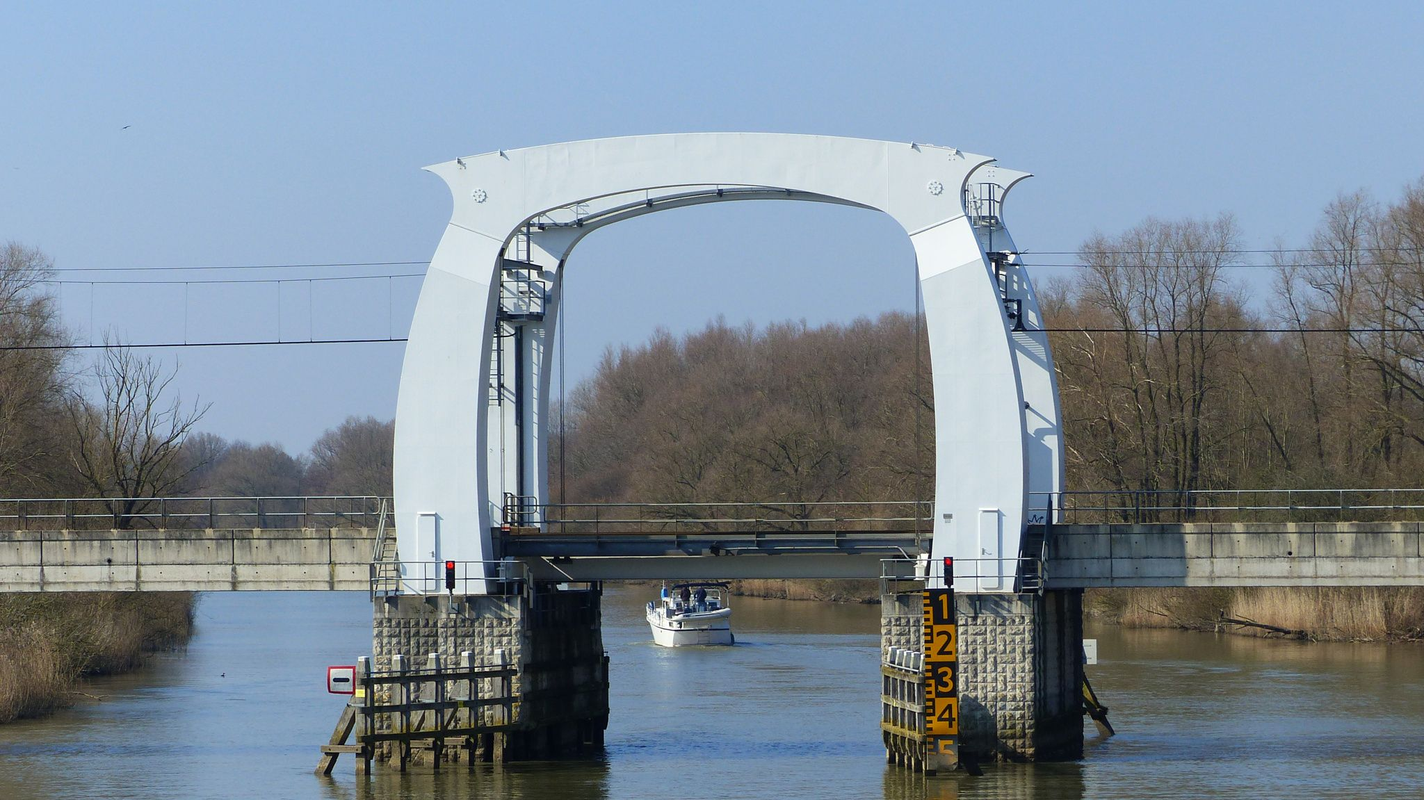 Bridge - A railway bridge across the river Wantij