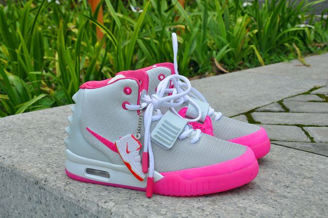 Nike air yeezy 2 women shoes gray pink  bc395c5149
