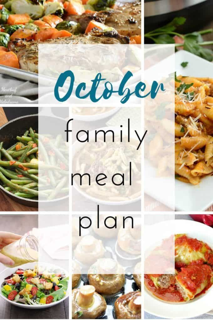 October Family Meal Plan Food E Licious Family Meal