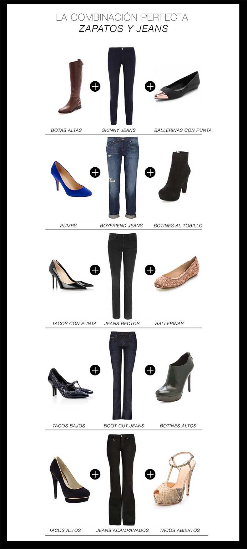 La Mejor Guía Para Combinar Tus Jeans Con Tus Zapatos