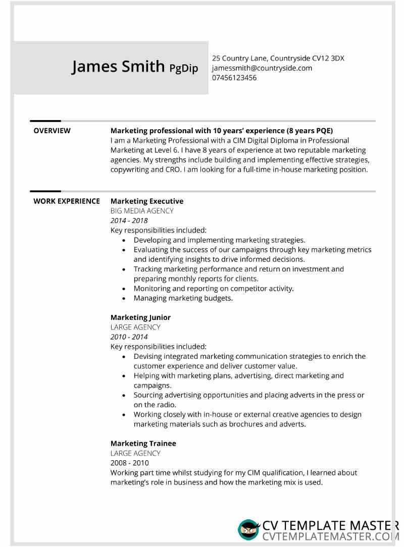 Two page bordered free CV template alternative - CV Template ...