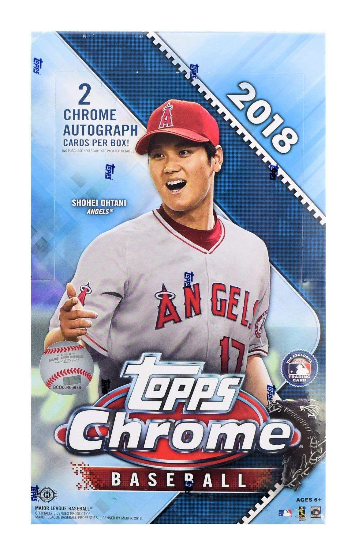 2018 topps chrome baseball hobby box baseball baseball