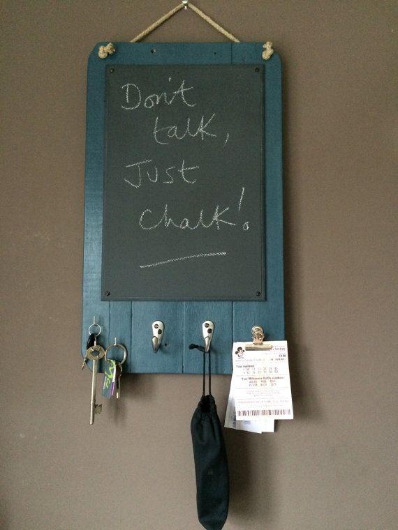 Blackboard Kitchen Organiser And Blackboard Handmade With