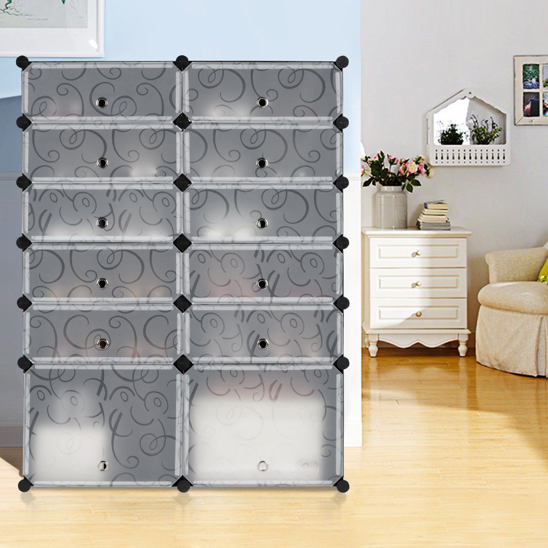 Amazoncom LANGRIA 12Cube DIY Shoe Rack Multi Use Modular