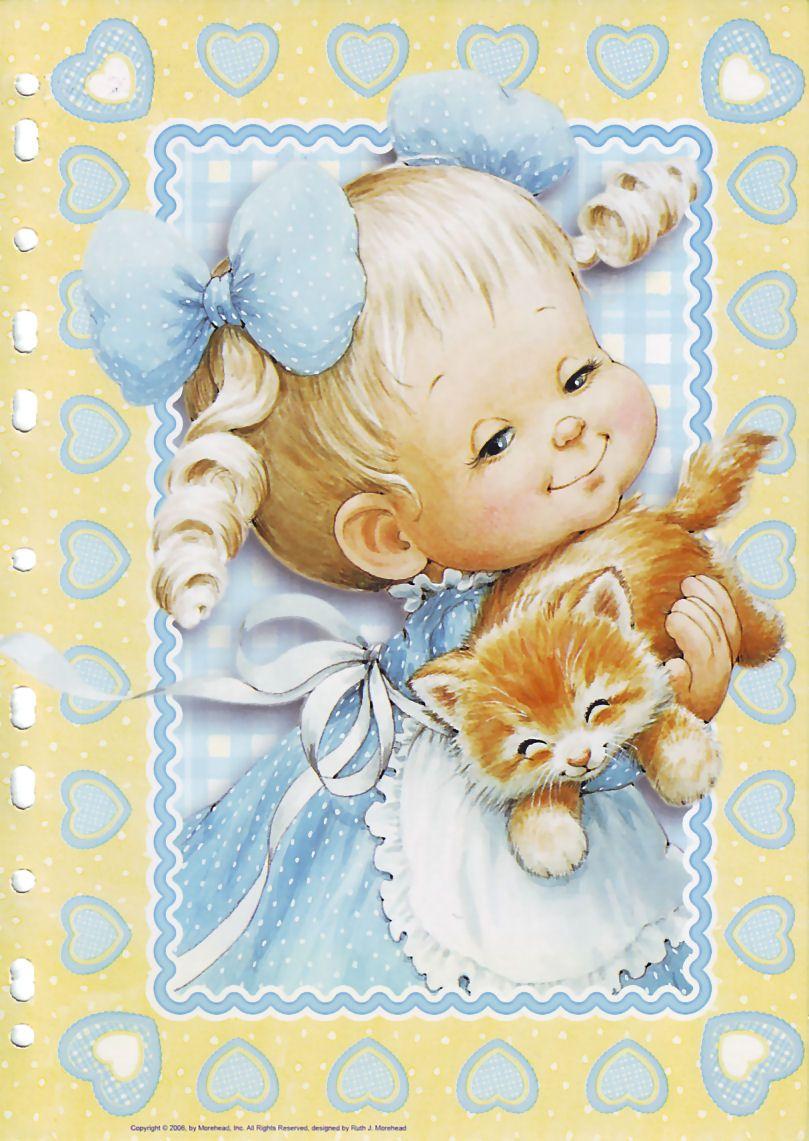Красивые открытки с маленькими девочками