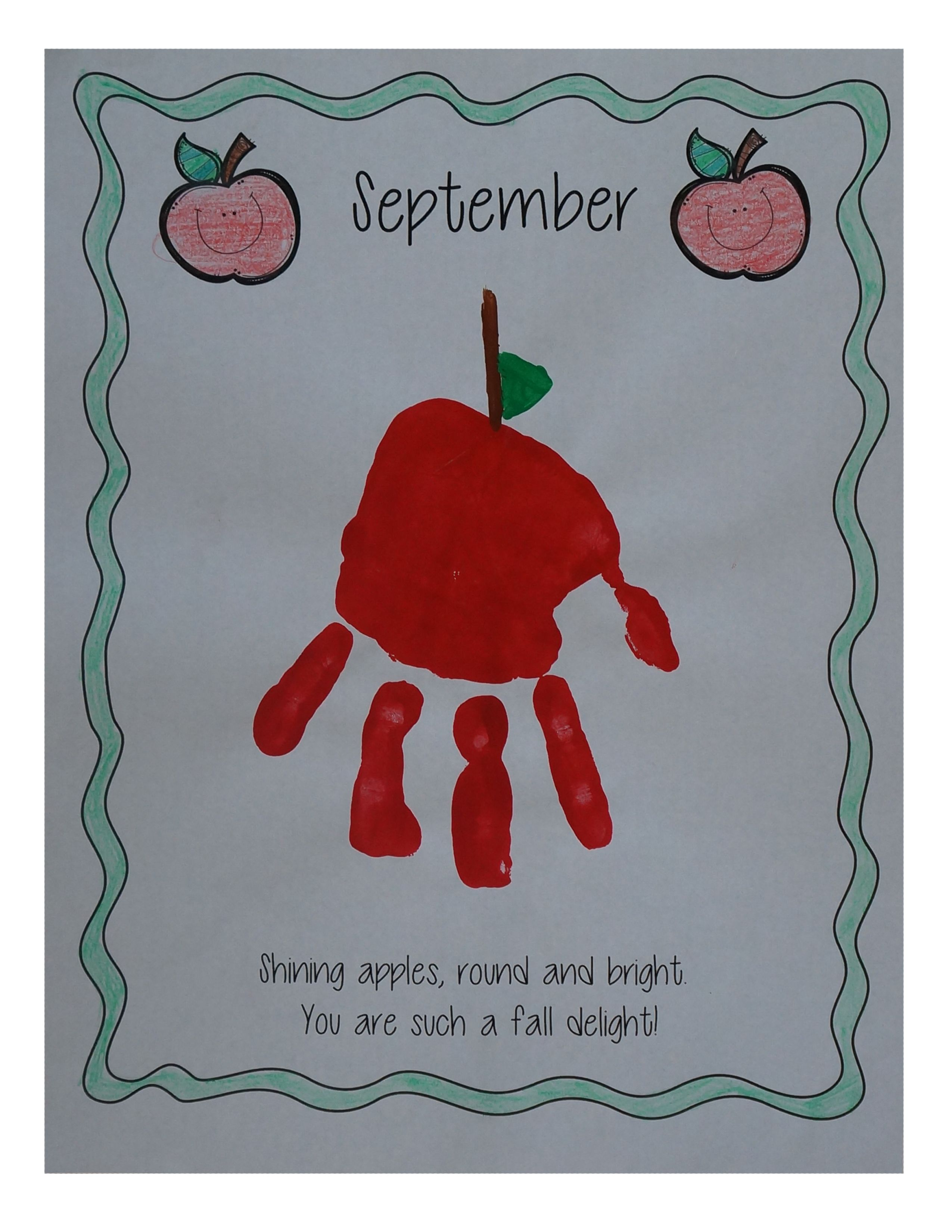 My Handprint Memory Book First Day of a New School Year