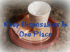Organizing Life with Less: Disposables in One Place