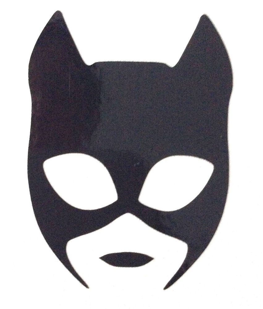 Catwoman Mask Vinyl Decal Sticker 35mm X 48mm Approx