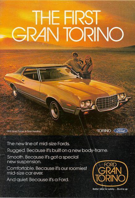 1972 Ford Gran Torino My First Car In Mustard Yellow Car Ads