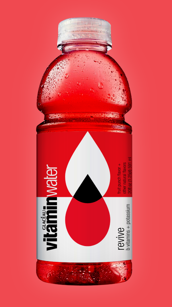 Vitamin Water Drinks packaging design, Water packaging