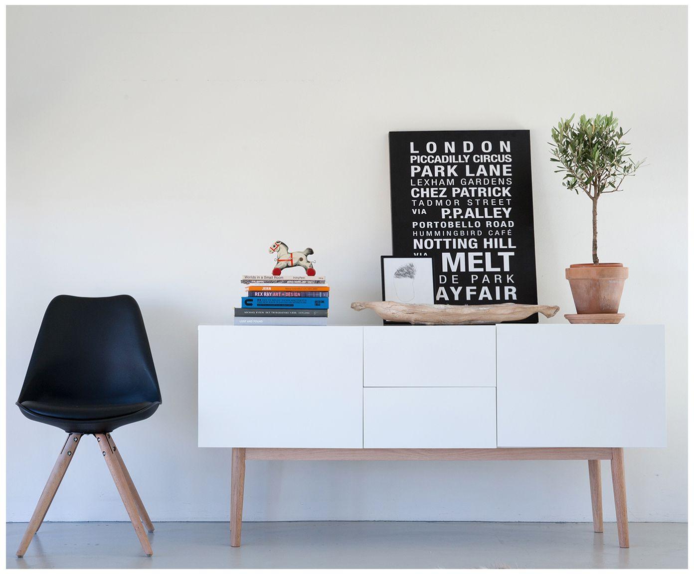 Mit Sideboard Bergen In Weiß Von Interstil DÄnemark Verwandeln Sie Ihr Wohnzimmer In Eine Wohlfühloase Entdecken S Living Room Side Table Home Decor Furniture