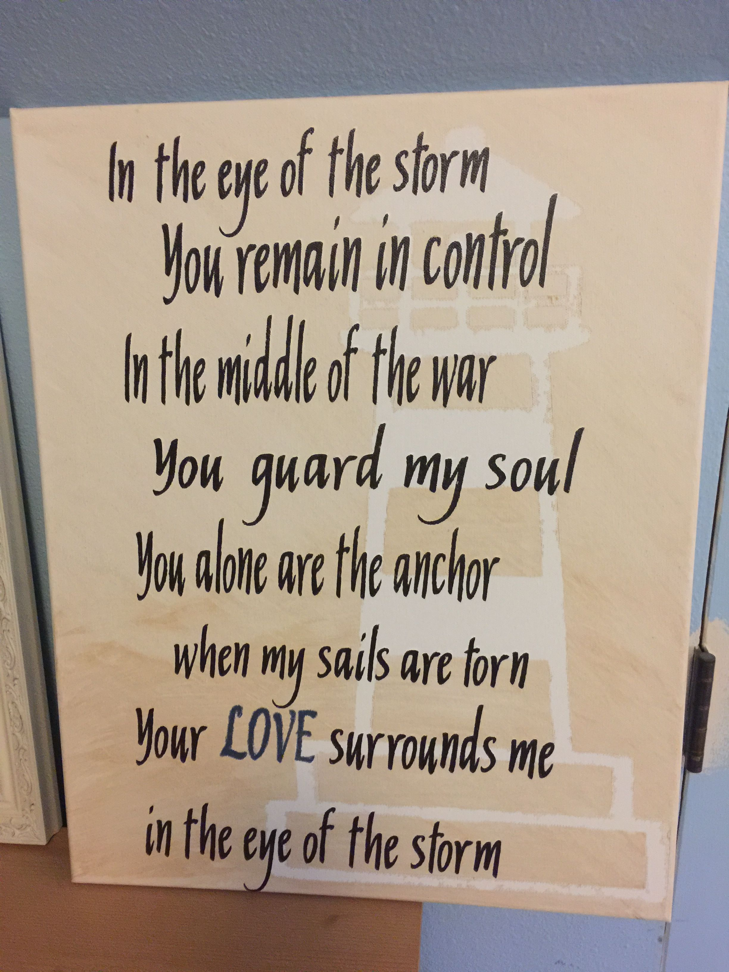 Eye Of The Storm Lyrics R Stevenson Karid Away Kreations