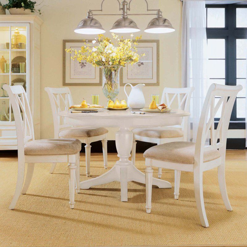 American Drew Camden White Dining Side Chairs Set Of 2 Adl2185