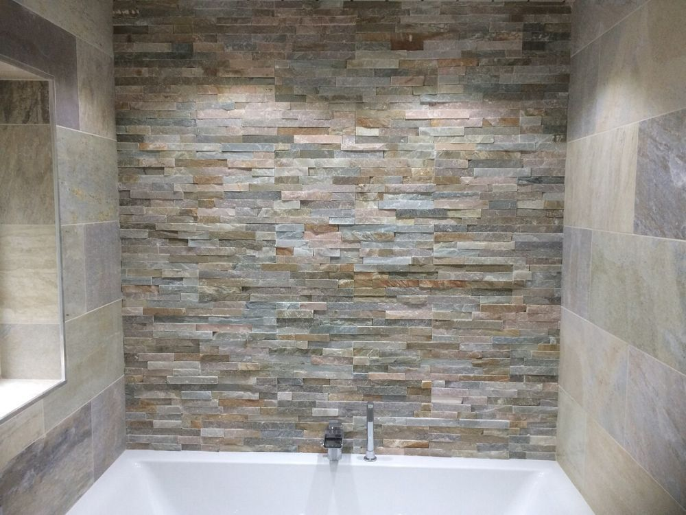 Quartzite oyster beige random split face cladding wall tiles
