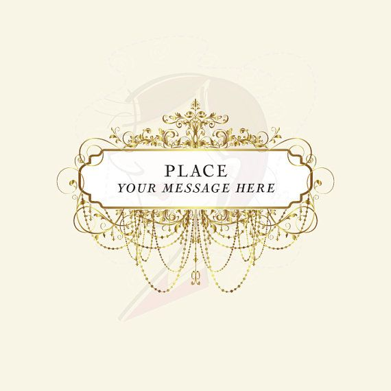 2c220fa4c54 Chandelier Vintage Frames GOLD Ornate Digital Clipart DIY Engagement Wedding  Invitation Bridal Shower Victorian Design Clip Art 10456.  6.70