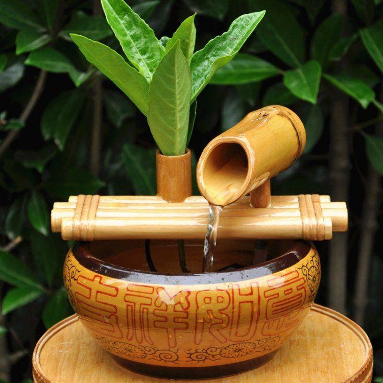 Idée déco pour le jardin: optez pour une fontaine en bambou ...