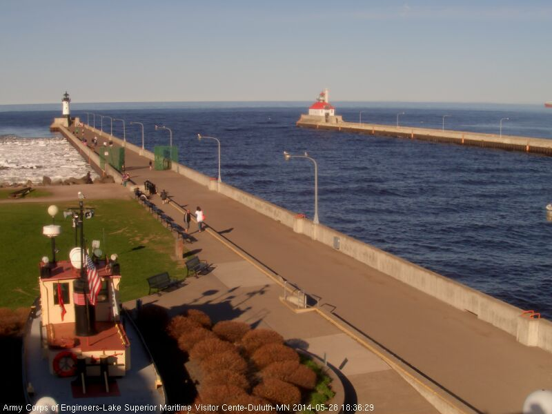 Lake Superior - live web cam at foot of Aerial Lift Bridge in Duluth, Minnesota