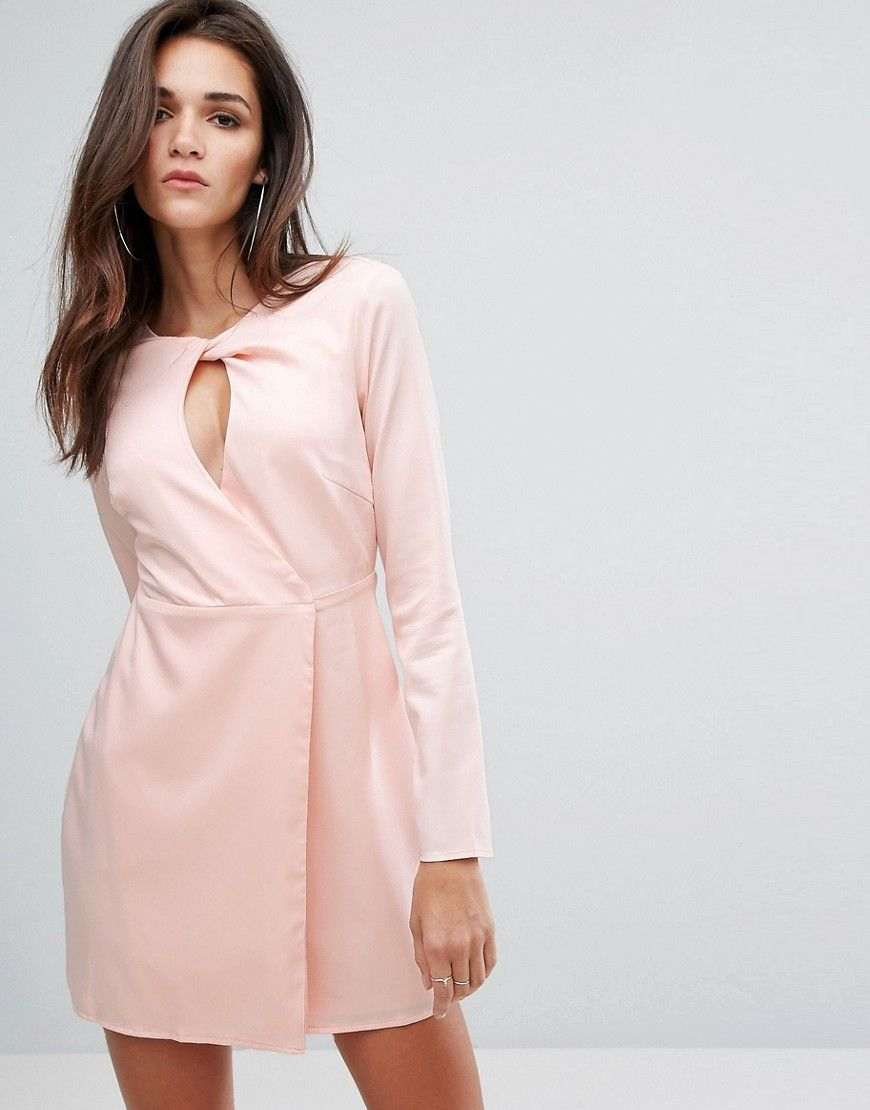 Buy it now fashion union shift dress with key hole front pink
