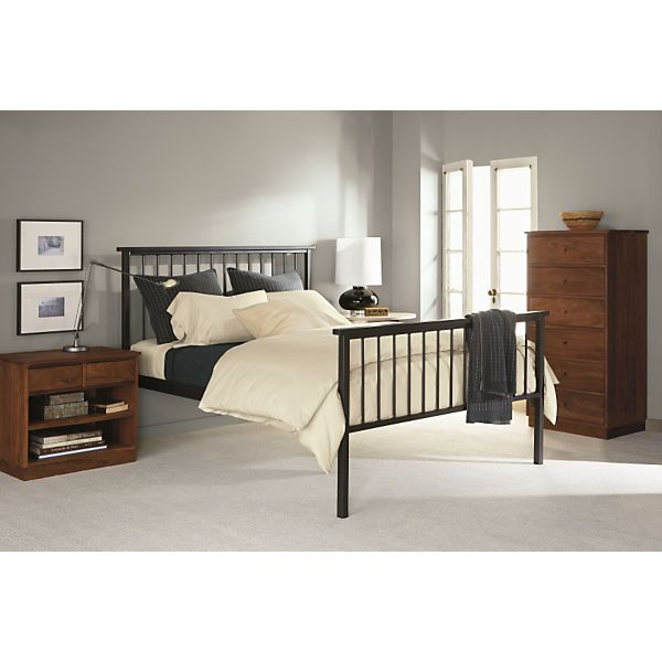 Mackintosh Natural Steel Bed - Modern Beds & Platform Beds - Modern Bedroom Furniture - Room & Board