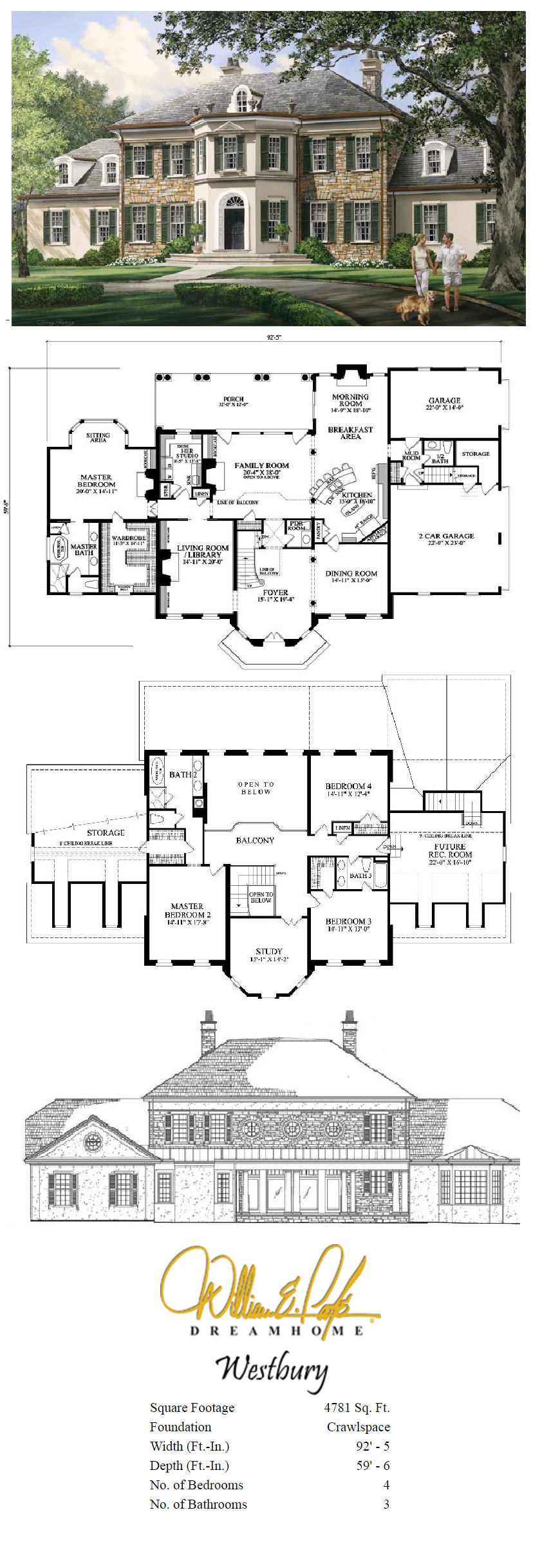 Westbury Perspective With Plans William E Poole Dream Home Sims 4 House Plans Sims House Plans Sims House Design