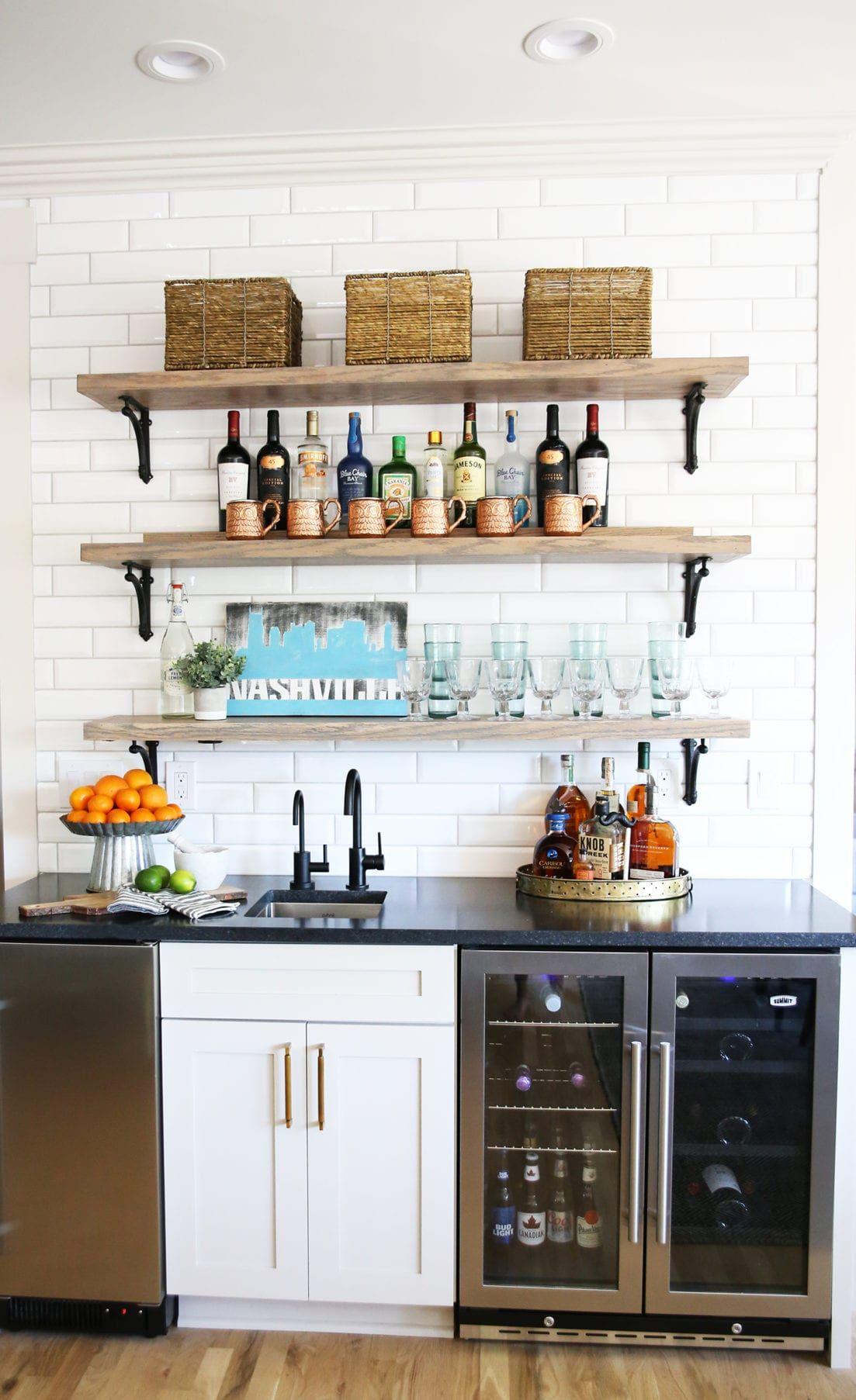 1 Bar 3 Ways Kitchen Beverage Center Kitchen Design Kitchen Bar