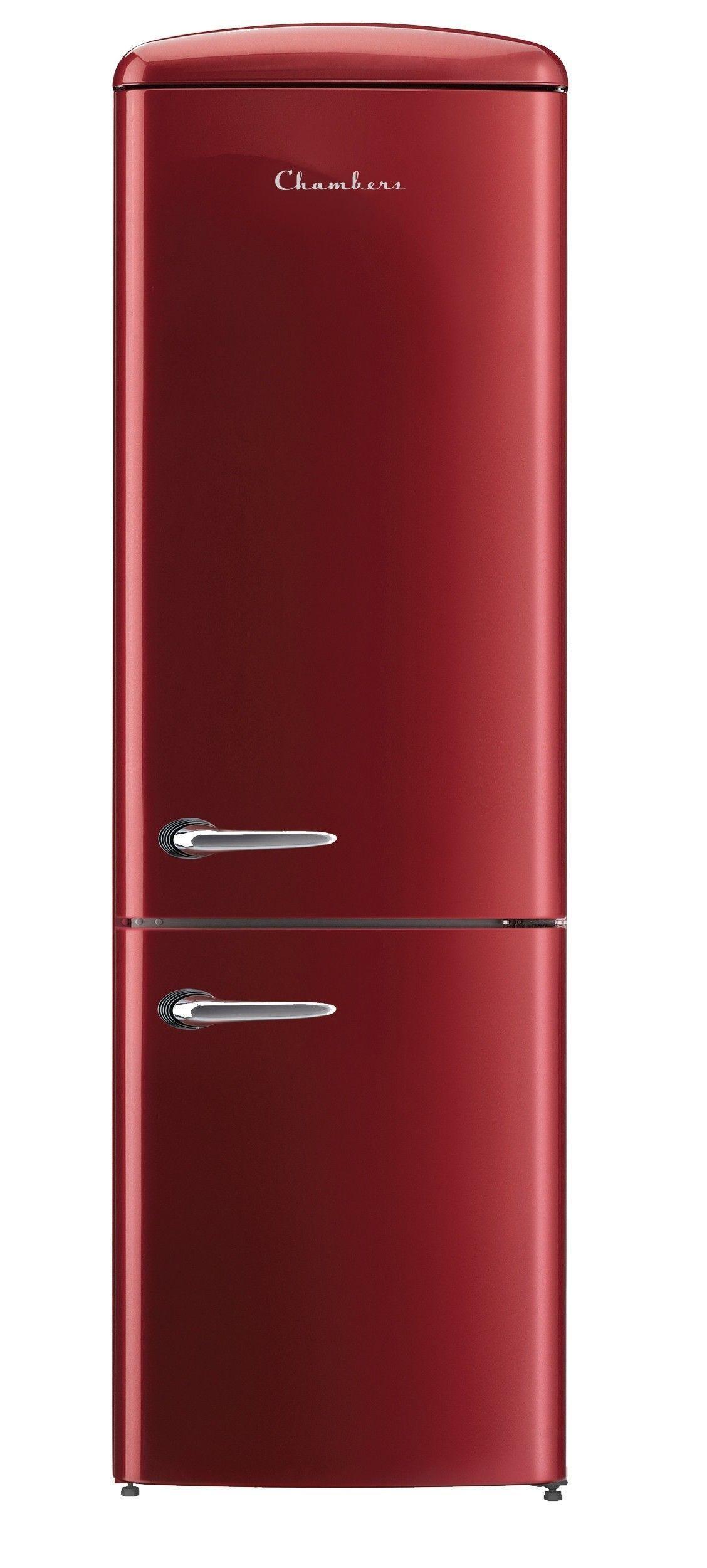 Retro Bordeaux 12 Cu Ft Bottom Freezer Refrigerator Energy Star Retrohomedecor Retro Home Decor Diy Kitchen Decor Retro Refrigerator