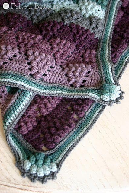 Vineyard patrón de la manta de ganchillo de la vendimia por Susan ...