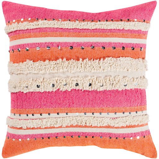 Pink And Orange Temara Pillow By Surya Orange Throw Pillows