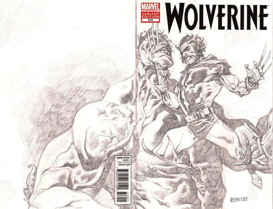 blank cover art wolverine versus hulk by mccat