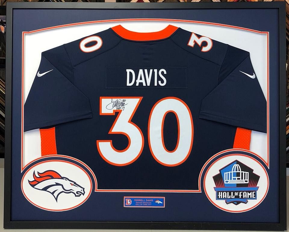 sports shoes b5109 8d65d 🏈 Custom framed Terrell Davis #Broncos jersey! We even cut ...