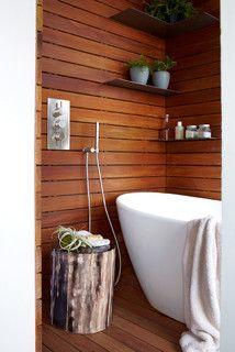 Finishes On Ipe Wood Houzz Bathroom Design Sleek Bathroom Bathroom Decor