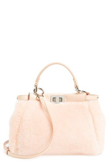 d8d4c7ee83 Fendi  Mini Peekaboo  Genuine Shearling   Nappa Leather Bag available at   Nordstrom